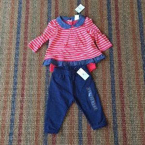 NWT a set of body suit and pant